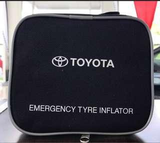 Toyota emergency tyre inflator pump