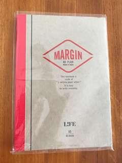 Life Margin A5 plain notebook