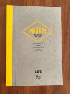 Life Margin A5 section notebook