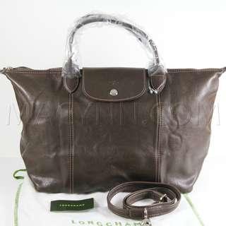 Longchamp Leather Handbag with Strap