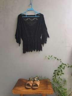 Black kebaya top