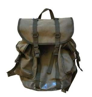 Military backpack (軍事 軍綠 背囊 worker style army rucksack workware Double RL RRL)