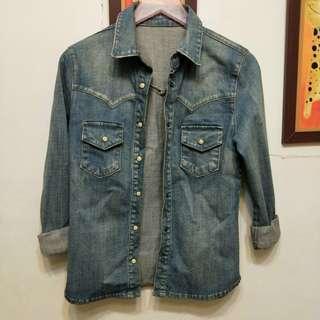韓店購入 牛仔襯衫外套