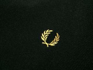 Authentic Fred Perry Polo Black and Yellow