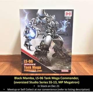 (In Stock) Black Mamba BMB, LS-06 KO oversized Studio Series SS-13 Megatron