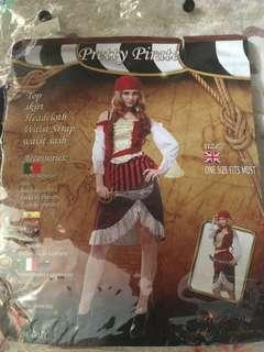 Pirate Costume (use once with tag) For Sale or For Rent