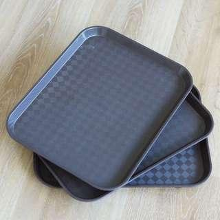 Plastic Food Serving Tray Brown (12x10in)