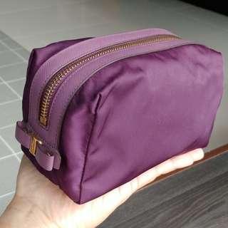Salvatore Ferragamo Pouch Case Bag Purple Travel Cosmetic Makeup