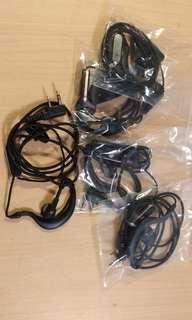 K頭 掛耳式對講機耳線