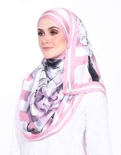 Dusty Pink Printed Shawl