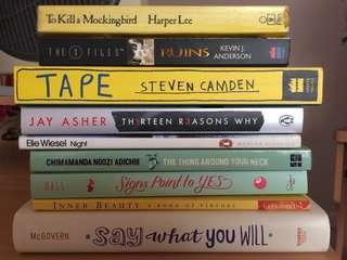 Assorted fiction novels