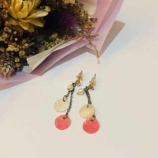 紅白垂吊式耳環 #十二月女裝半價
