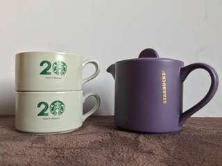 Limited Edition 20th Anniversary Starbucks Teapot Set