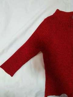 Red Half sleeved top