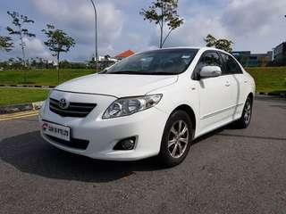 Toyota Altis 1.6A (New 5-Yr COE)