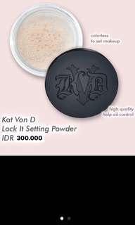 Kat von D lock it setting powder