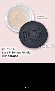 Kan von D lock it setting powder