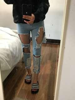 Vintage Ripped Blue jeans