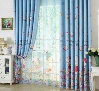 Brand New Hello Kitty Black Out Curtains(Hook)