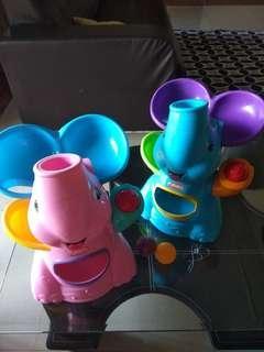 Playskool elephant popper (sound, ball popper)