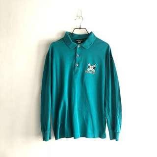 Vintage YSL Long Sleeve Polo Big Logo
