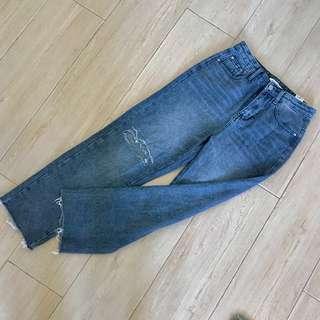 100%new jeans 👖 直筒中腰牛仔褲 全新