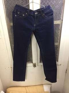 全新深藍色直筒牛仔褲/L號/含吊牌