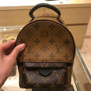 Brand New Louis Vuitton Reverse Monogram Mini Palm Spring Backpack
