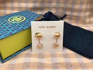 Tory Burch Rose Logo Quartz Earrings