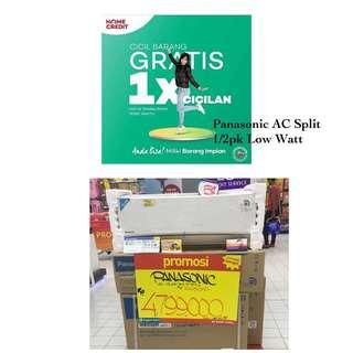 Panasonic AC Split 1/2pk Low Wattage Promo Kredit Free 1x Angsuran Proses Cepat