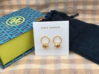 Tory Burch Logo Bead Drop Earrings