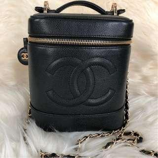Chanel Vanity Case Black Caviar with GHW