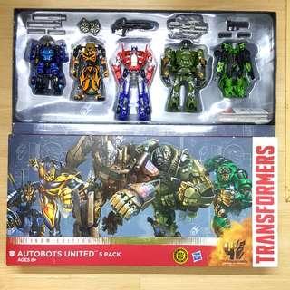 Transformers age of extinction Platinum Edition Autobots United Optimus Prime Bumblebee Hound Crosshairs Drift