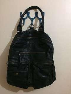 Leather shoulder and backpack bag