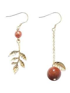 [instock] Korean style unique Red earrings