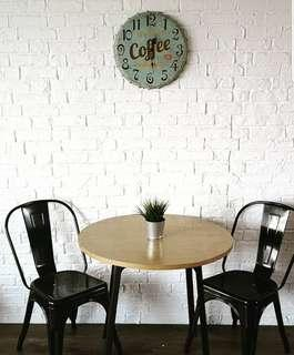 Fuax solid cement Brick wall (not wallpaper or foam)