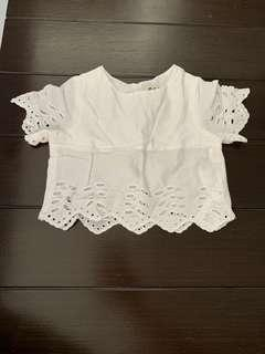 Baby Girl White crop Top