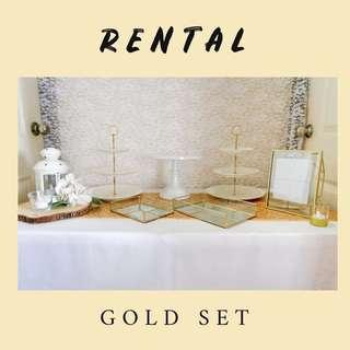 Gold Set - Dessert Table Decor RENTAL