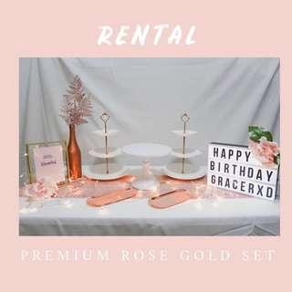 Premium Rose Gold Set - Dessert Table Decor RENTAL