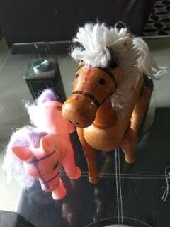 Wooden horse, unicorn
