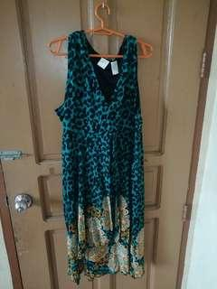 Preloved Floral Chiffon Dress (Plus size/Maternity)