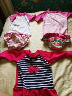 Preloved Rush guard for babies 1-2 years old