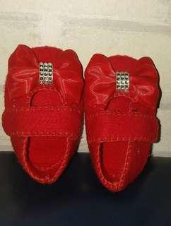 Sepatu Baby 3-6bulan (Red Flannel)