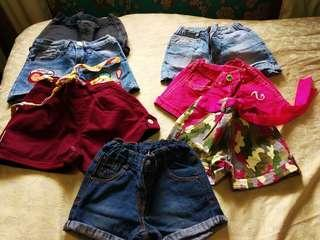 A Preloved bundle shorts for your daughter!  1-3years old