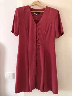 Vintage 90s Summer Sun Dress Sz 14