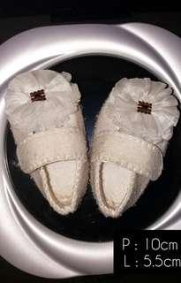 Sepatu Baby 0-3bln - white flannel
