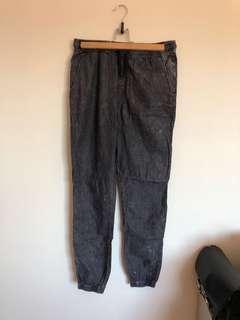 Ziggy Denim Acid wash pants pockets drawstring