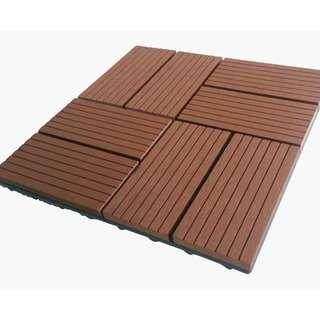 Share This Listing    Public Comments  Be the first to write a public comment. Ask a question or @mention a friend to check this out!  Garden Tiles - WPC outdoor interlocking tiles - coffee colour - 300x300x22mm