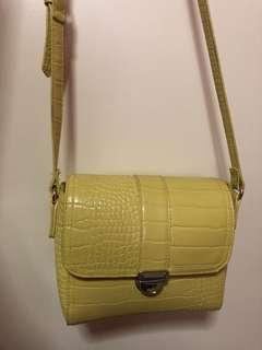 Accessorize yellow sling bag