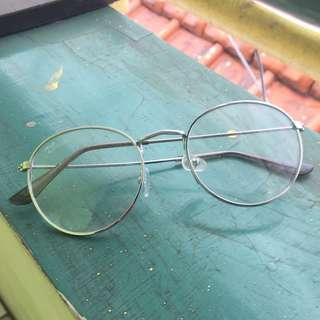 Kacamata Bening Silver